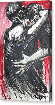 Lovers - Dance Of Passion 2 Canvas Print by Carmen Tyrrell