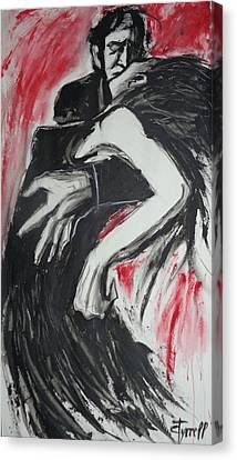 Lovers - Dance Of Passion Canvas Print by Carmen Tyrrell