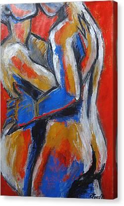 Lovers - Hot Summer Desire Canvas Print by Carmen Tyrrell