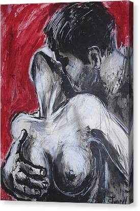 Lovers - Powerful Emotion Canvas Print by Carmen Tyrrell