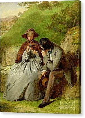 Lovers Canvas Print by William Powell Frith