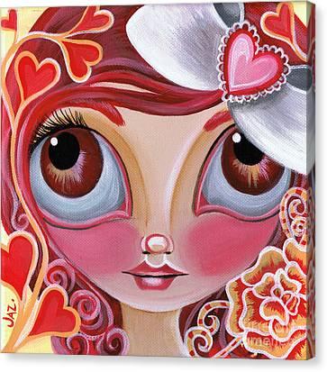 Lovey Dovey Canvas Print by Jaz Higgins