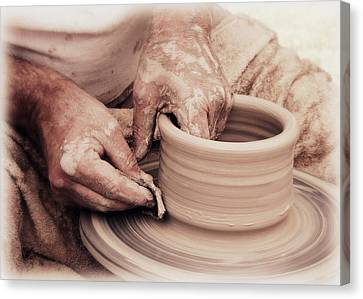 Loving Hands Creation Canvas Print by Emanuel Tanjala