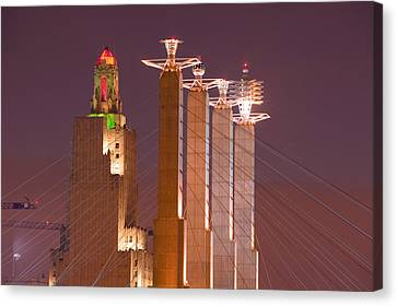 Low Angle View Of Cables Attached Canvas Print by Panoramic Images