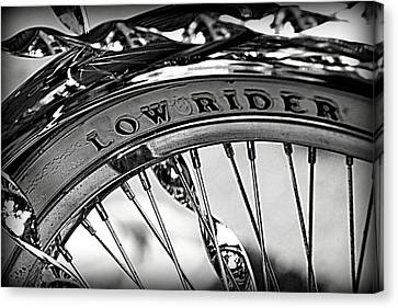 Low Rider In Black And White Canvas Print by Tam Graff