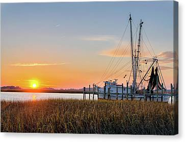 Lowcountry Sunset Canvas Print by Drew Castelhano