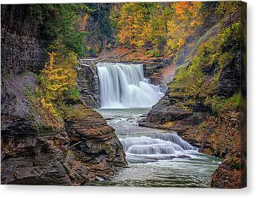 Lower Falls In Autumn Canvas Print by Rick Berk