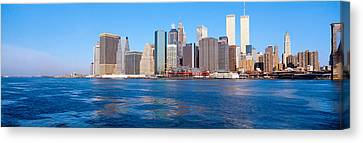 Lower Manhattan, East River, New York Canvas Print by Panoramic Images
