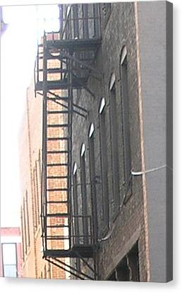 Lowertown Fire Escape Canvas Print by Janis Beauchamp