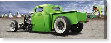 Lowrider At Painted Desert Canvas Print by Mike McGlothlen