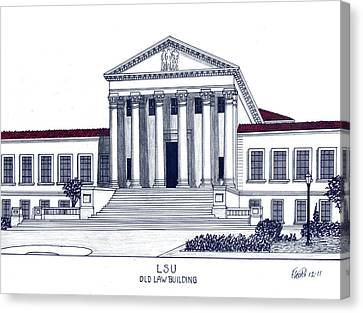 Lsu Old Law Building Canvas Print by Frederic Kohli