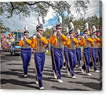 Lsu Tigers Band 5 Canvas Print by Steve Harrington