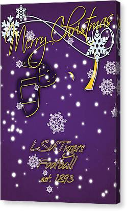 Lsu Tigers Christmas Card Canvas Print by Joe Hamilton