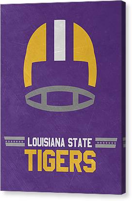 Lsu Tigers Vintage Football Art Canvas Print by Joe Hamilton