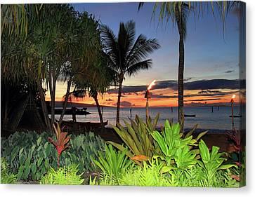 Luau Sunset Maui Canvas Print by Pierre Leclerc Photography