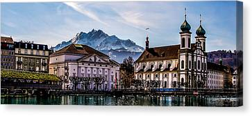 Lucerne's Architecture Canvas Print by TK Goforth