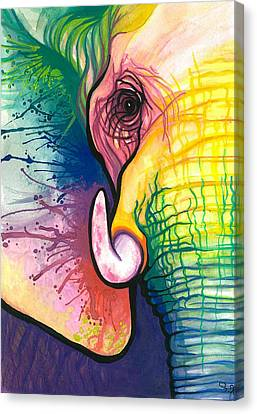 Lucky Elephant Spirit Canvas Print by Sarah Jane