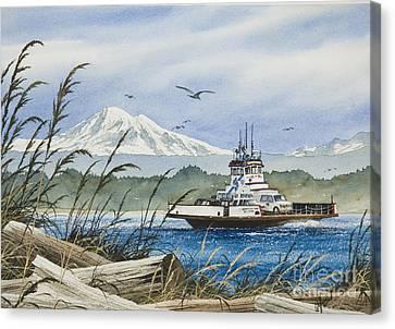 Lummi Island Ferry Canvas Print by James Williamson