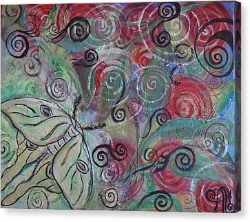 Luna On Me Canvas Print by Adrianna Stepiano