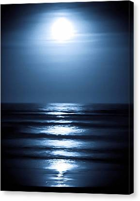 Lunar Dreams Canvas Print by DigiArt Diaries by Vicky B Fuller