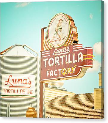 Luna's Silo And Sign Canvas Print by David Waldo
