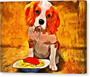 Lunch Time Canvas Print by Leonardo Digenio
