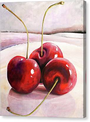 Luscious Cherries Canvas Print by Toni Grote