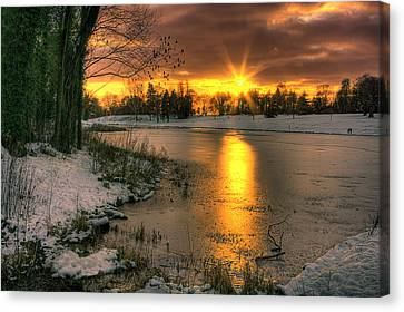 Lydiard Sunset Canvas Print by Terry Walters