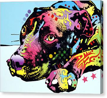 Lying Pit Luv Canvas Print by Dean Russo