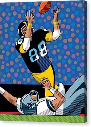 Lynn Swann Super Bowl X Canvas Print by Ron Magnes