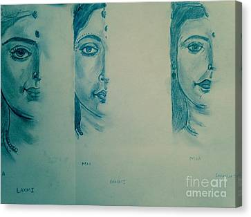 Ma Durga Canvas Print by Navroz  Raje