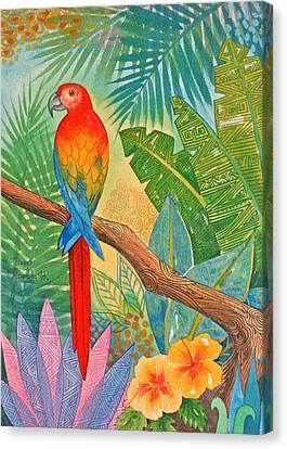 Macaw Canvas Print by Jennifer Baird