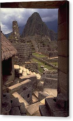Canvas Print featuring the photograph Machu Picchu by Travel Pics