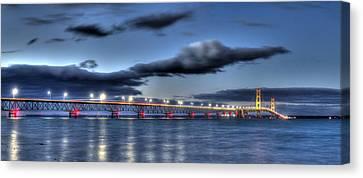 Mackinac Bridge   Canvas Print by Twenty Two North Photography
