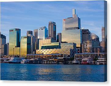 Macquarie Sunset Canvas Print by Charles Warren