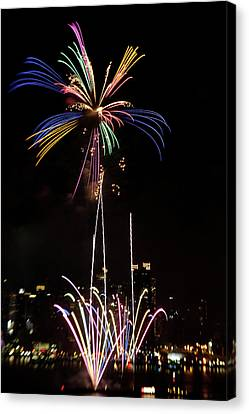 Macy's Fireworks I Canvas Print by David Hahn