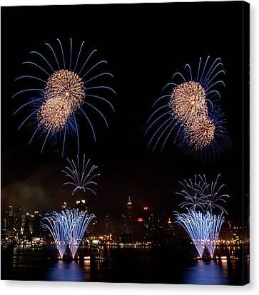 Macy's Fireworks IIi Canvas Print by David Hahn