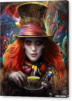 Mad As A Hatter Canvas Print by Omri Koresh