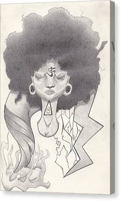 Mad Black Woman Canvas Print by Josh  Gray