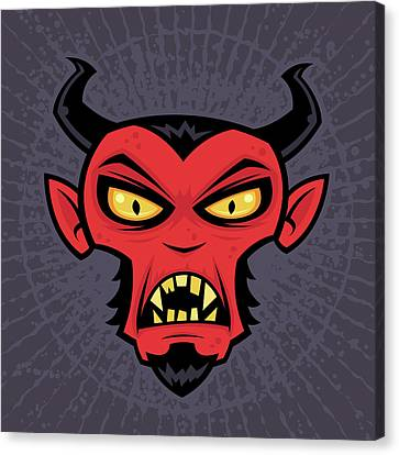 Mad Devil Canvas Print by John Schwegel