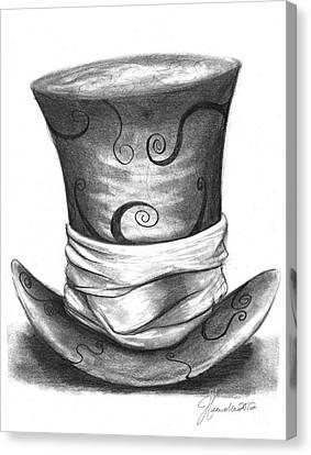 Mad Hat Canvas Print by J Ferwerda
