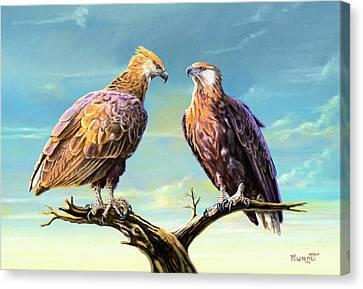 Madagascar Fish Eagle  Canvas Print by Anthony Mwangi