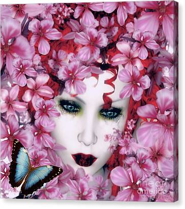 Madame Butterfly Canvas Print by Shanina Conway