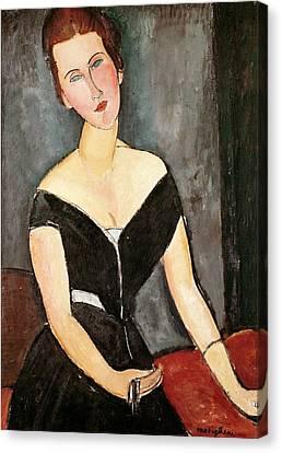 Madame G Van Muyden Canvas Print by Amedeo Modigliani