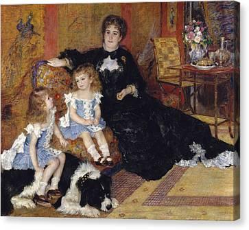 Madame Georges Charpentier And Her Children Canvas Print by Pierre Auguste Renoir