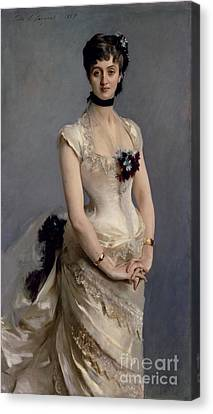 Madame Paul Poirson Canvas Print by John Singer Sargent