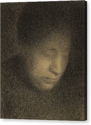Madame Seurat Canvas Print by Georges Pierre Seurat