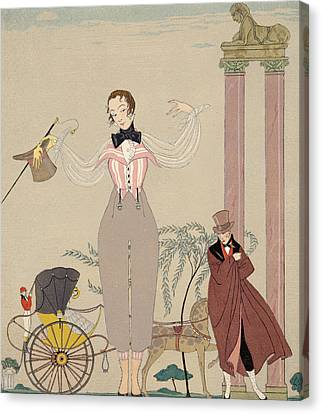 Mademoiselle De Maupin Canvas Print by Georges Barbier