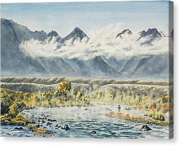 Madison River Morning Canvas Print by Link Jackson