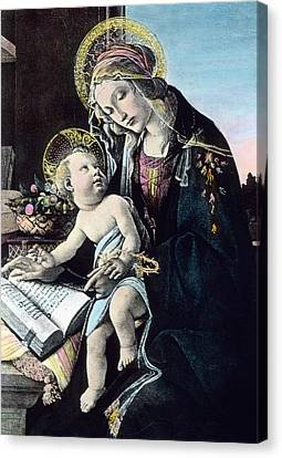 Madonna And Child Canvas Print by German School